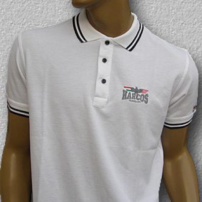 MAGYAR HARCOS galléros póló (fehér)