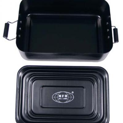 Tároló doboz, fém, vízálló (fekete)