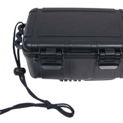Tároló doboz, műanyag, vízálló, nagy (fekete)