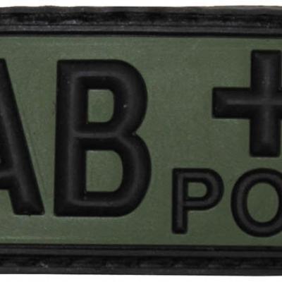 Vércsoportjelző patch (fekete-zöld)