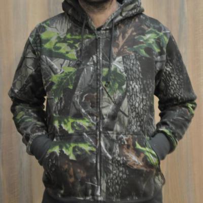 Kapucnis,cipzáros pulóver sötéthardwood