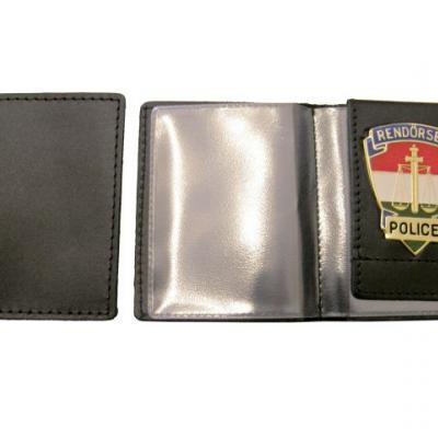 Rendőrségi (belül jelvényes,névjegykártyatartóval) kicsi igazolványtok
