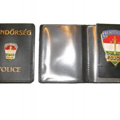Rendőrségi (kívül-belül jelvényes, névjegykártyatartóval) kicsi igazolványtok